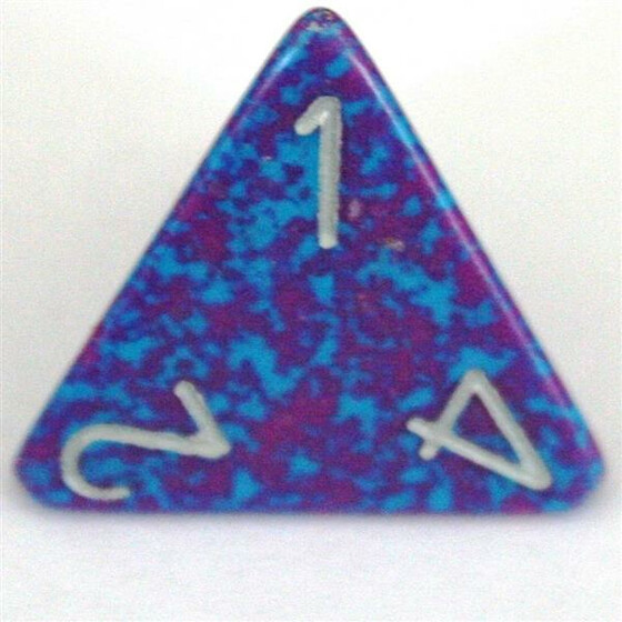 Chessex Speckled Silver Tetra D4