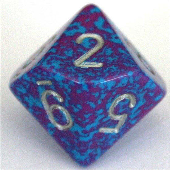 Chessex Speckled Silver Tetra W10
