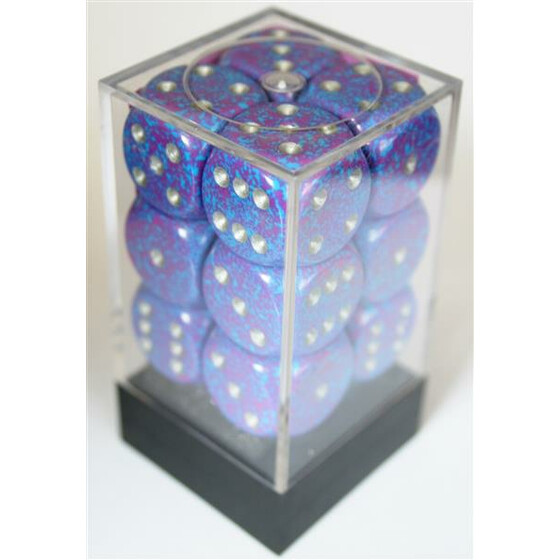 Chessex Speckled Silver Tetra W6 16mm Set