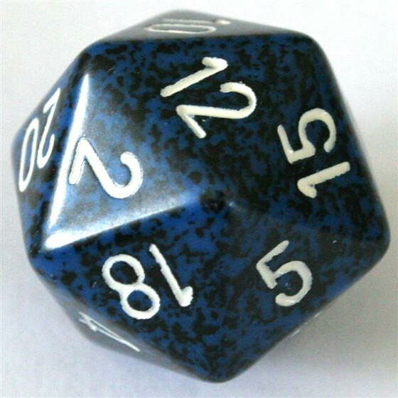 Chessex Speckled Stealth D20