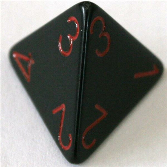 Chessex Opaque Black/Red D4