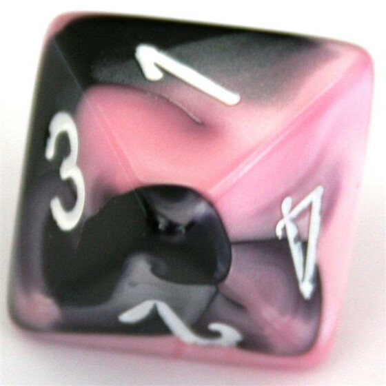 Chessex Gemini Black-Pink/White W8