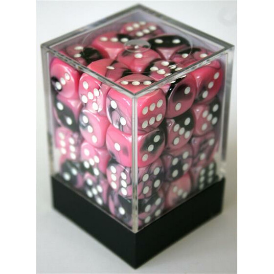 Chessex Gemini Black-Pink/White W6 12mm Set