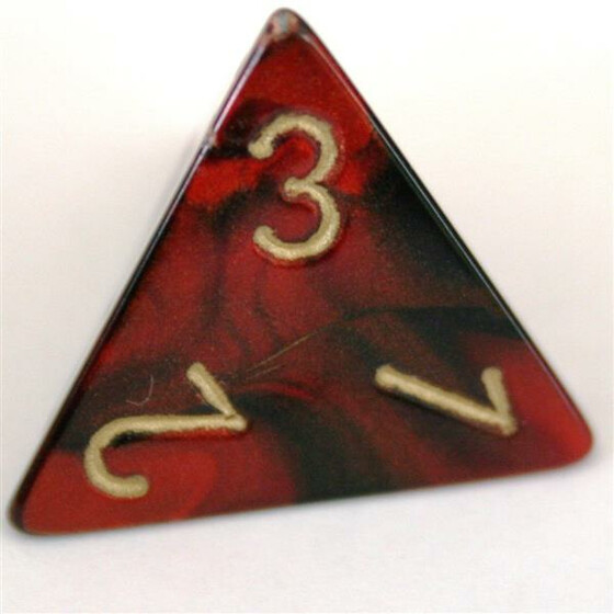Chessex Gemini Black-Red/Gold D4