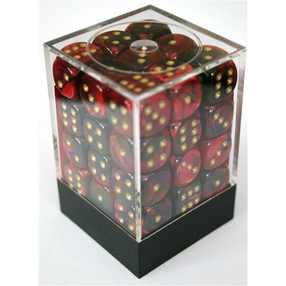 Chessex Gemini Black-Red/Gold D6 12mm Set
