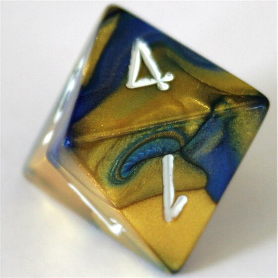 Chessex Gemini Blue-Gold/White W8