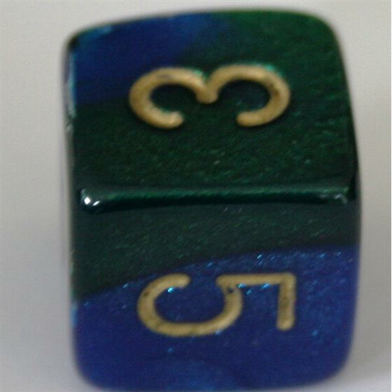 Chessex Gemini Blue-Green W6