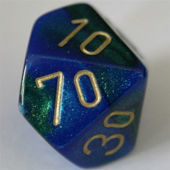 Chessex Gemini Blue-Green W10%
