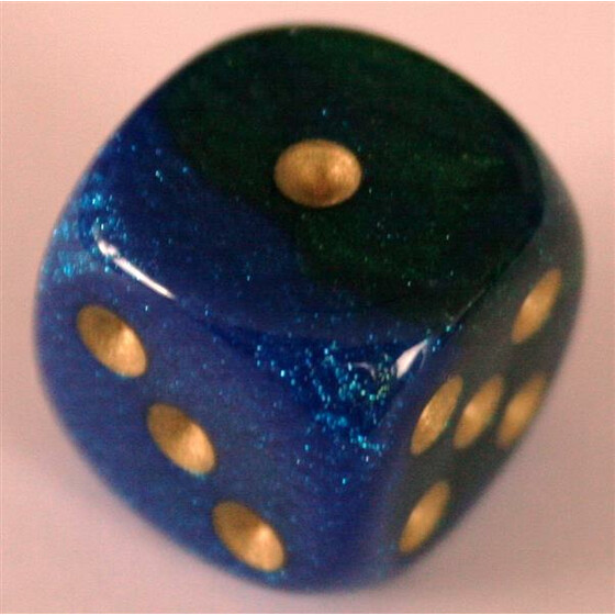 Chessex Gemini Blue-Green/Gold W6 16mm