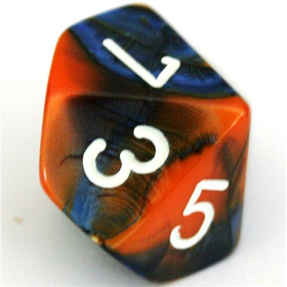 Chessex Gemini Blue-Orange W10