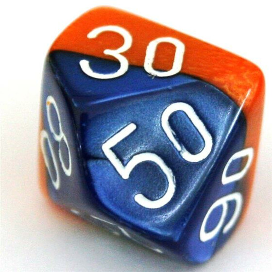 Chessex Gemini Blue-Orange W10%