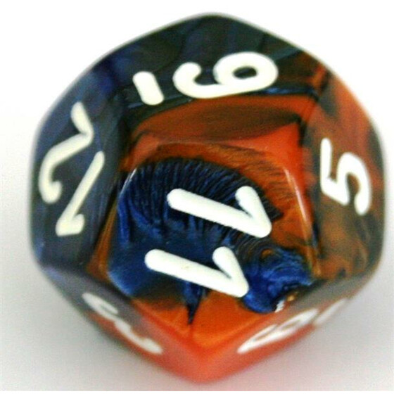 Chessex Gemini Blue-Orange W12