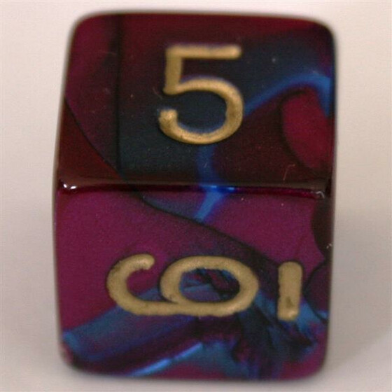 Chessex Gemini Blue-Purple W6