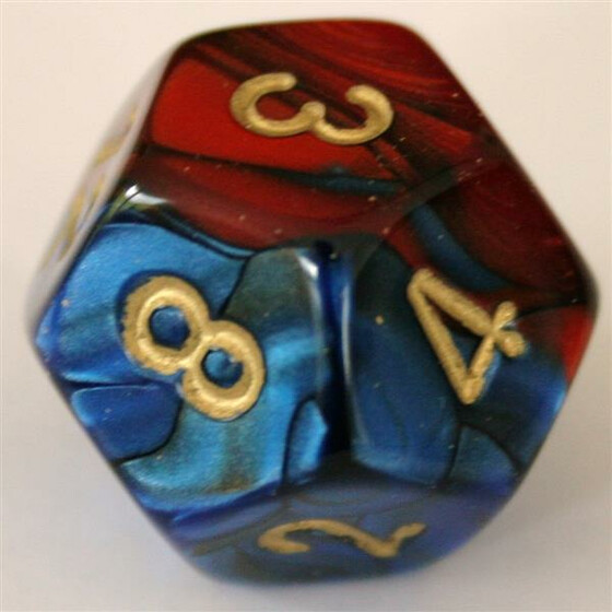 Chessex Gemini Blue-Red/Gold W12