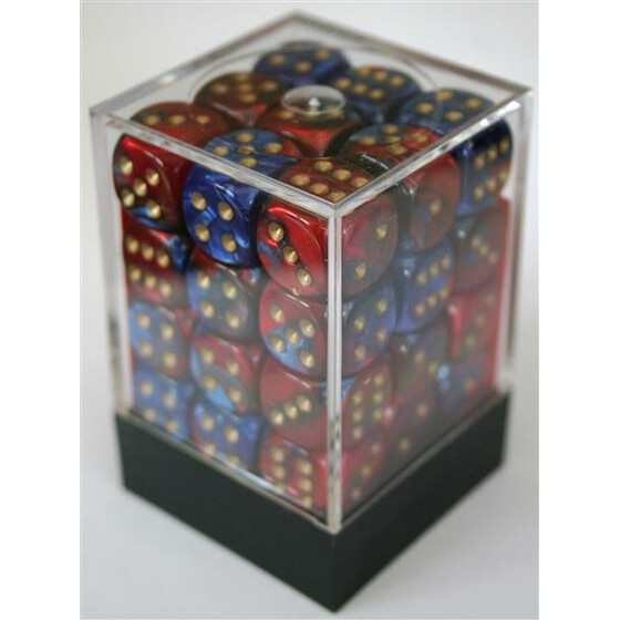 Chessex Gemini Blue-Red/Gold D6 12mm Set