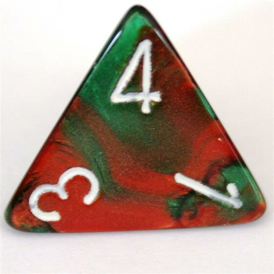 Chessex Gemini Green-Red W4