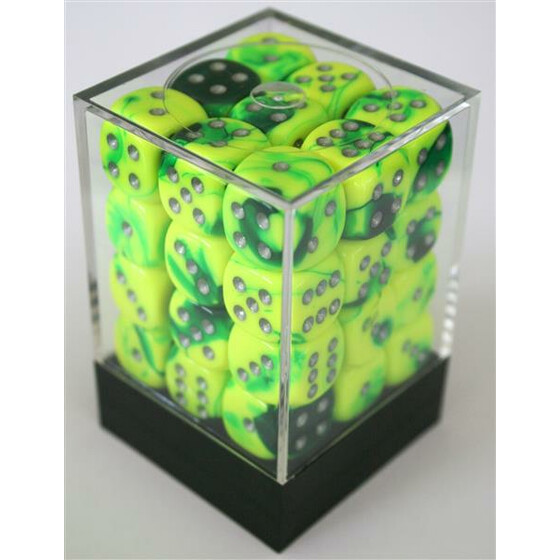 Chessex Gemini Green-Yellow/Silver D6 12mm Set