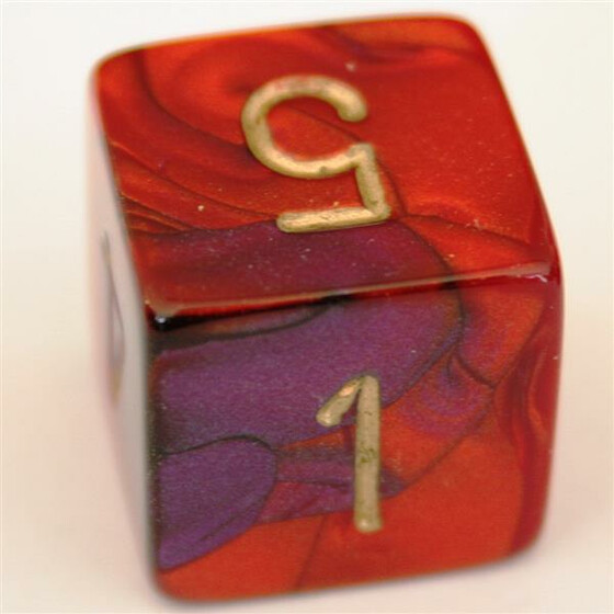 Chessex Gemini Purple-Red/Gold W6
