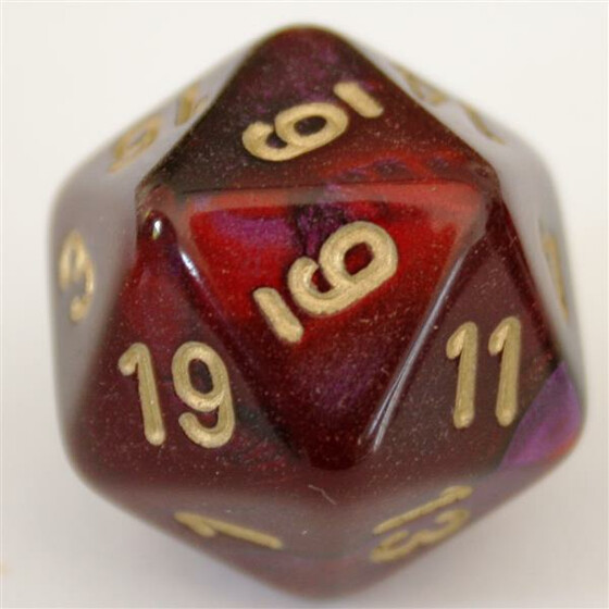 Chessex Gemini Purple-Red/Gold W20