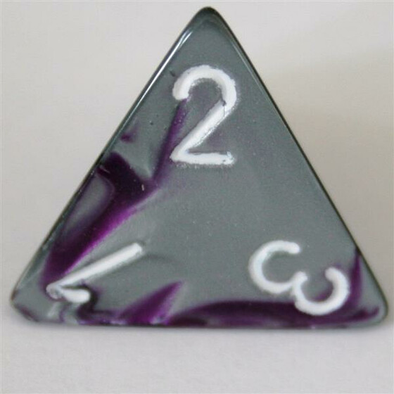 Chessex Gemini Purple-Steel/White D4