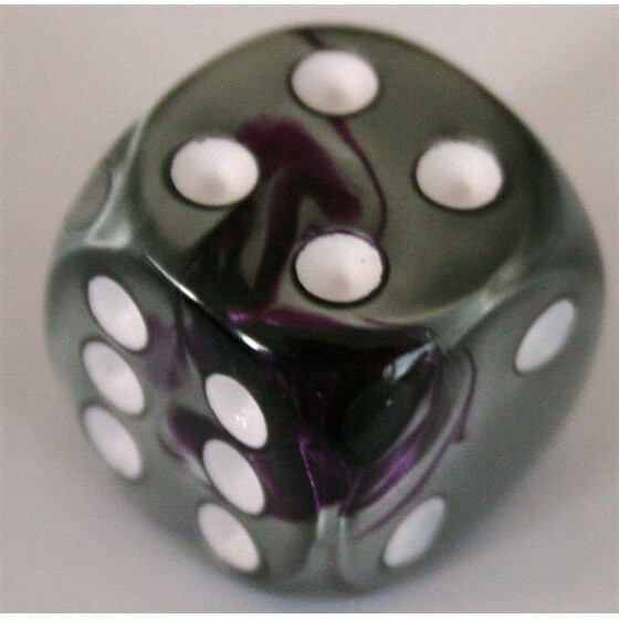 Chessex Gemini Purple-Steel/White W6 16mm