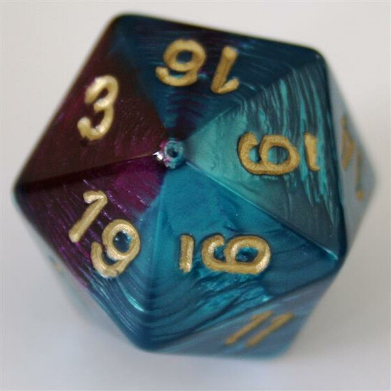 Chessex Gemini Purple-Teal/Gold W20