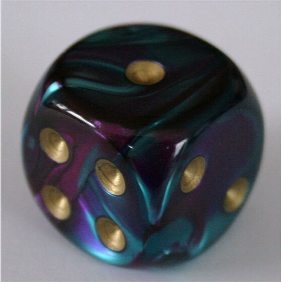 Chessex Gemini Purple-Teal/Gold W6 16mm