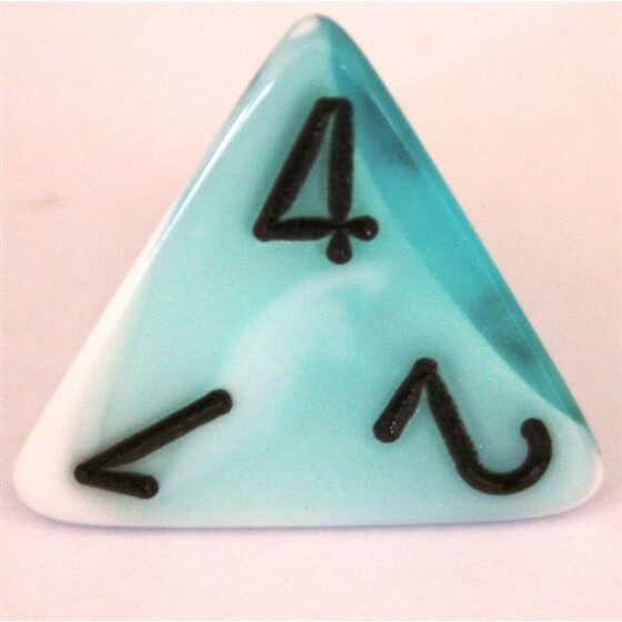 Chessex Gemini Teal-White W4