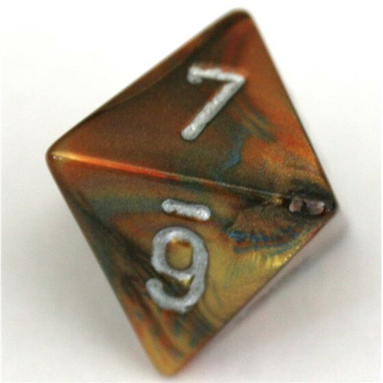 Chessex Lustrous Gold/Silver D8