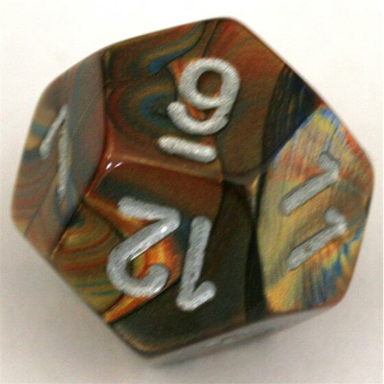 Chessex Lustrous Gold/Silver D12