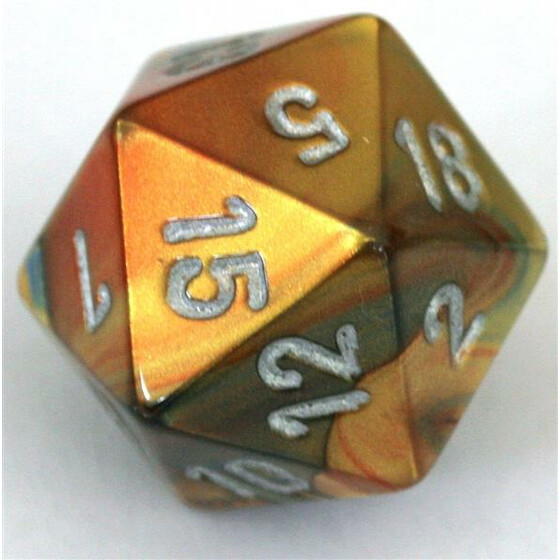 Chessex Lustrous Gold/Silver D20