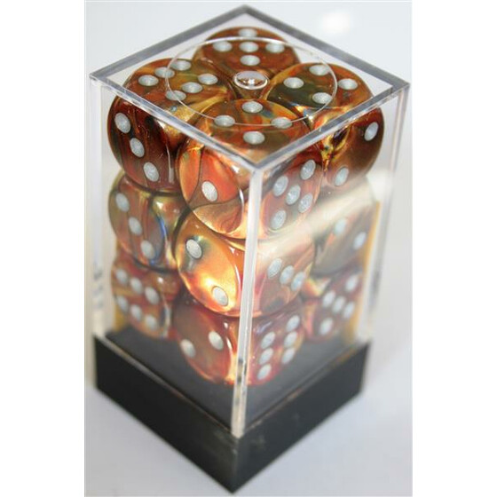 Chessex Lustrous Gold/Silver D6 16mm Set