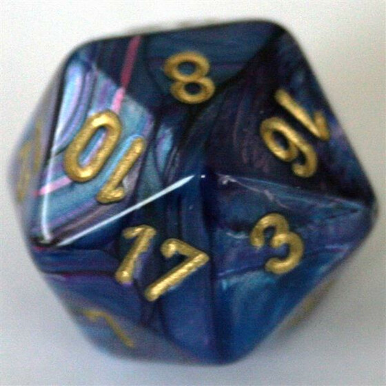 Chessex Lustrous Purple/Gold W20