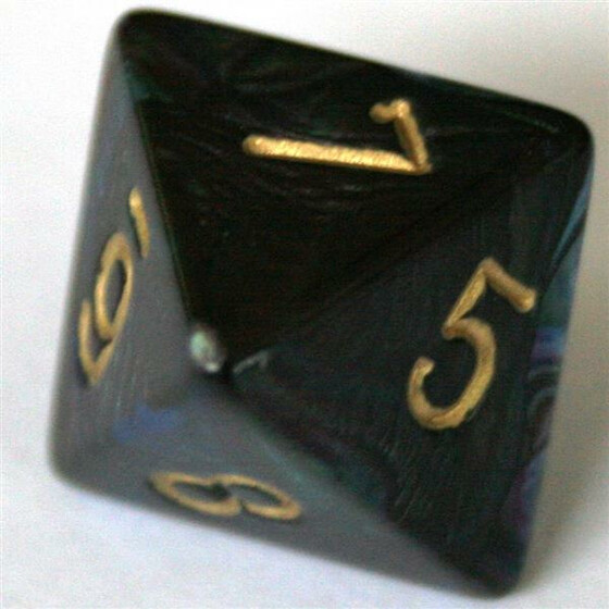 Chessex Lustrous Shadow/Gold W8