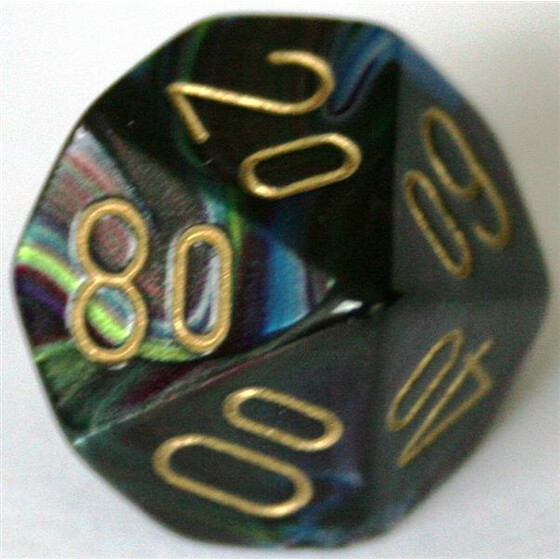 Chessex Lustrous Shadow/Gold W10%