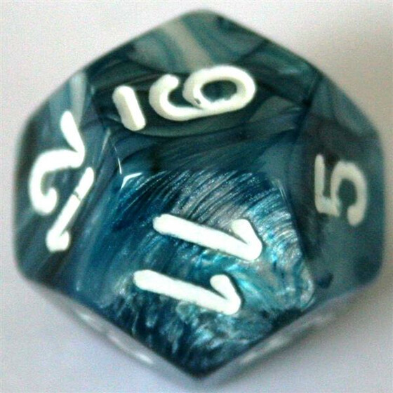 Chessex Lustrous Slate/White W12