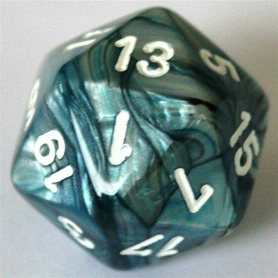 Chessex Lustrous Slate/White W20
