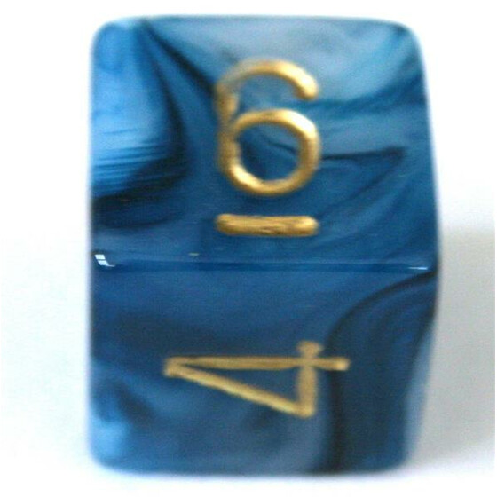 Chessex Phantom Teal/Gold W6