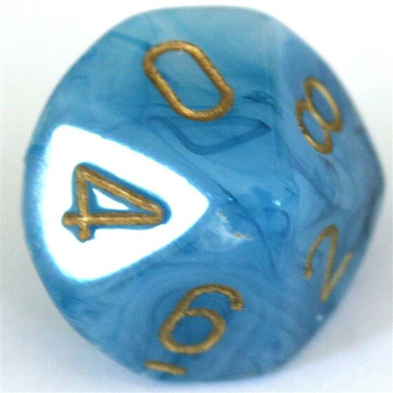 Chessex Phantom Teal/Gold W10
