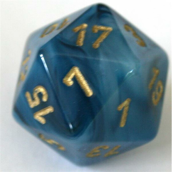 Chessex Phantom Teal/Gold W20