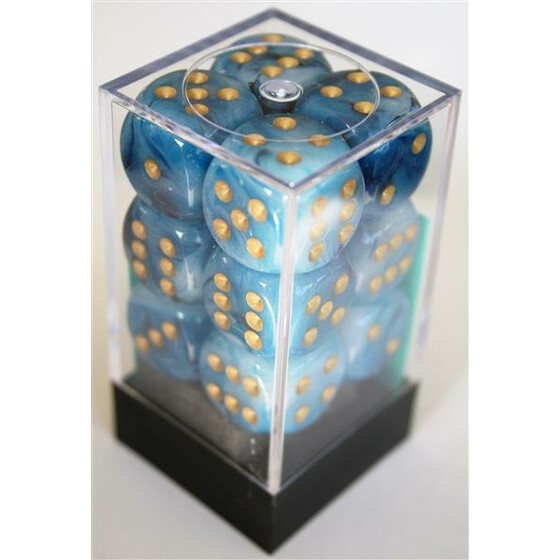 Chessex Phantom Teal/Gold W6 16mm Set