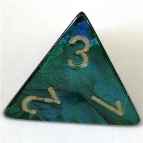 Chessex Scarab Jade/Gold W4