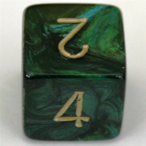 Chessex Scarab Jade/Gold W6