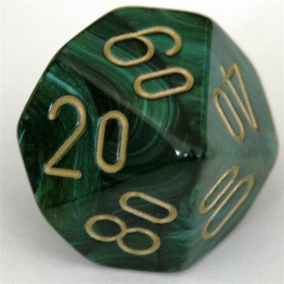 Chessex Scarab Jade/Gold W10%