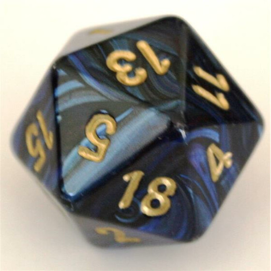 Chessex Scarab Royal Blue/Gold W20