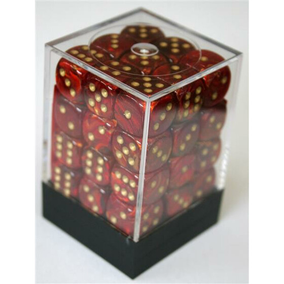 Chessex Scarab Scarlet/Gold W6 12mm Set