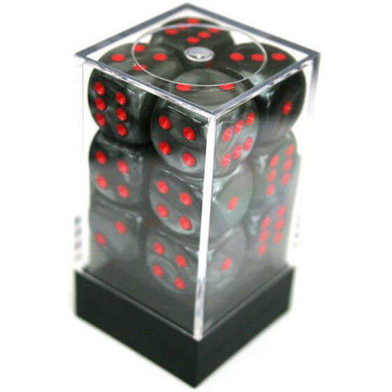 Chessex Velvet Black/Red W6 16mm Set