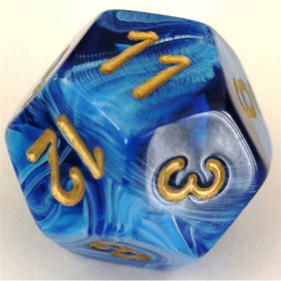 Chessex Vortex Blue/Gold W12