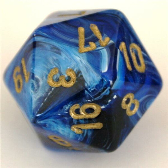 Chessex Vortex Blue/Gold W20