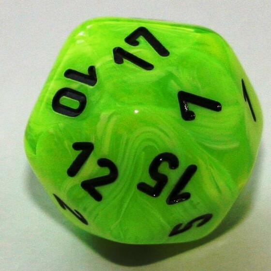 Chessex Vortex Bright Green W20